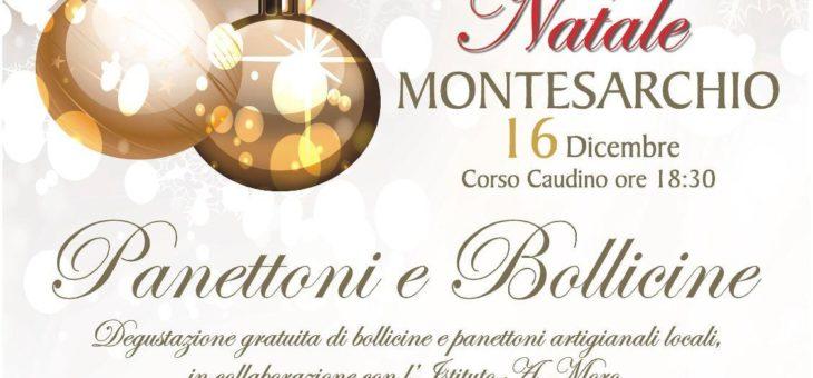 """""""Un Magico Natale a Montesarchio"""", domenica 16 panettoni e bollicine al corso Caudino"""