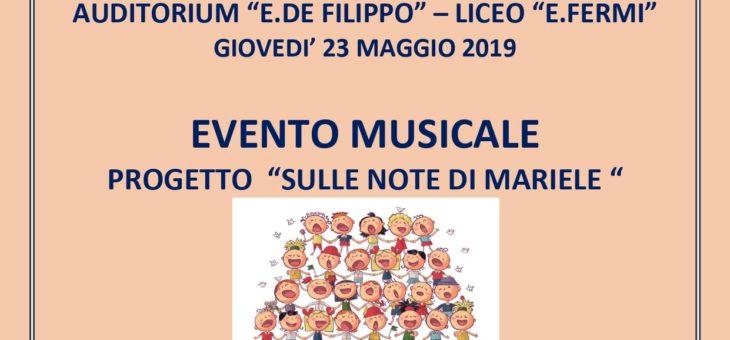 """Evento musicale """"Sulle note di Mariele"""""""