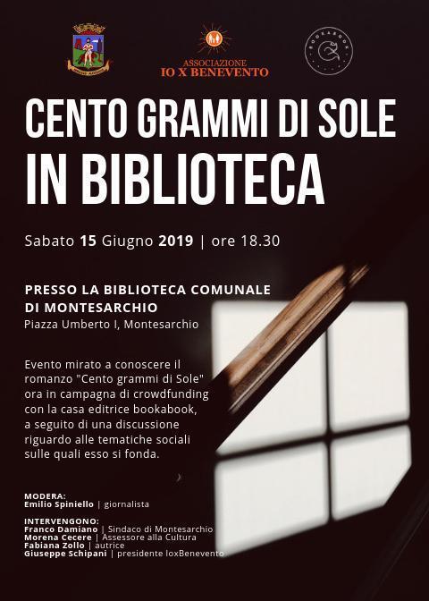 Cento grammi di sole in biblioteca @ Biblioteca comunale di Montesarchio
