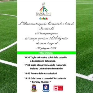 """Inaugurazione del campo sportivo """"A. Allegretto"""" @ Campo Sportivo """"A. Allegretto"""""""