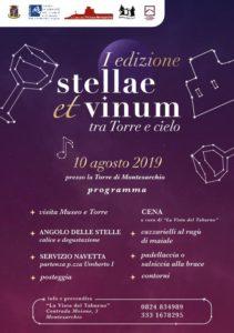 Stellae et Vinum I edizione @ Torre di Montesarchio